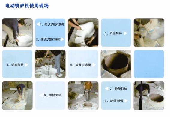 中频炉炉衬材料的使用步骤